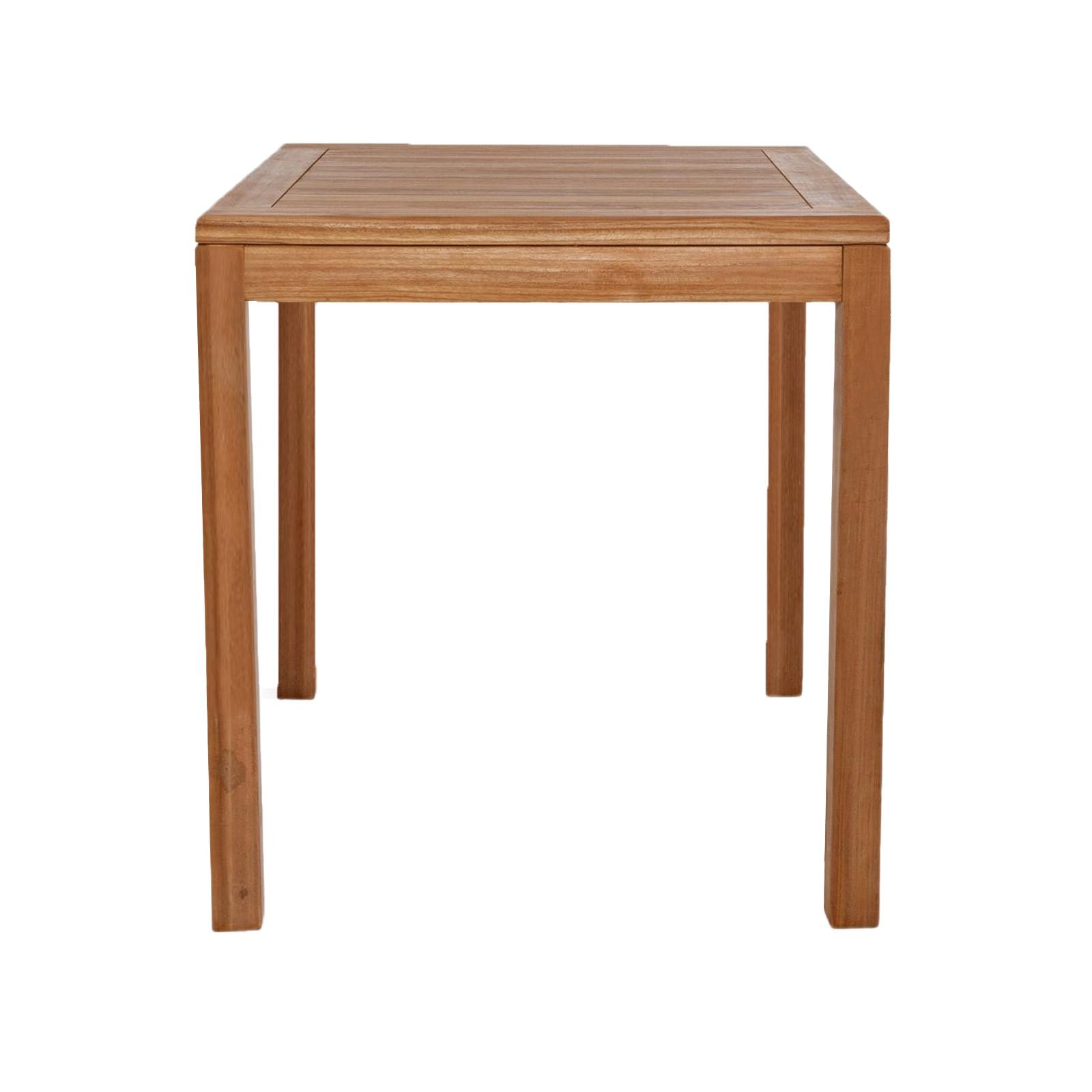 Tavolo quadrato in legno di teak da giardino 90x90 cm ...