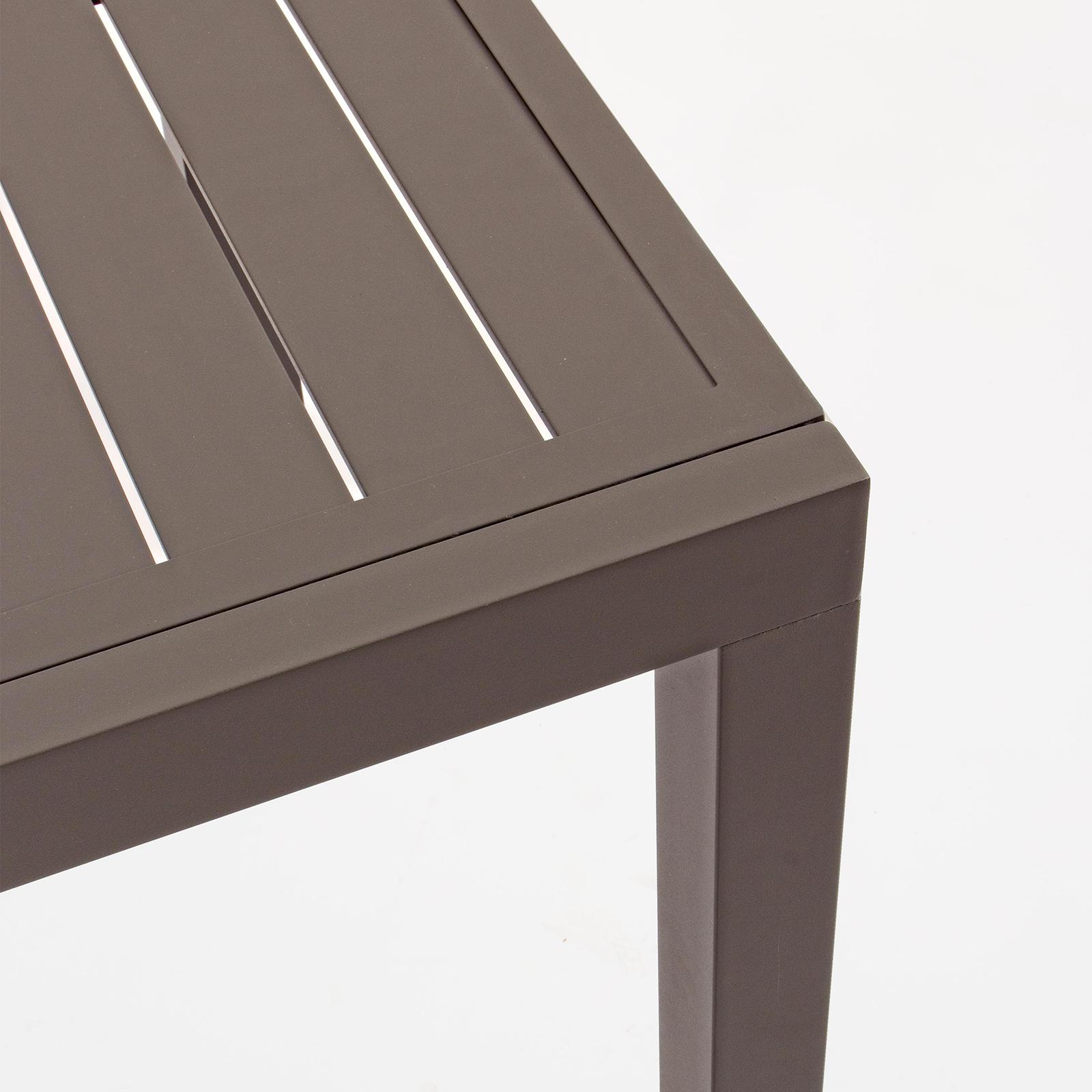 Tavolo Allungabile In Alluminio Color Tortora 160 240x90 Cm Arredo Giardino