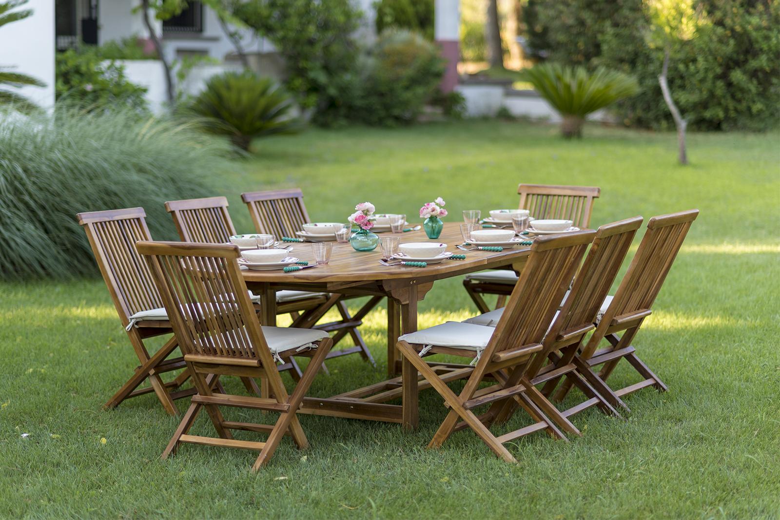 Tavolo allungabile da giardino in legno di teak ...