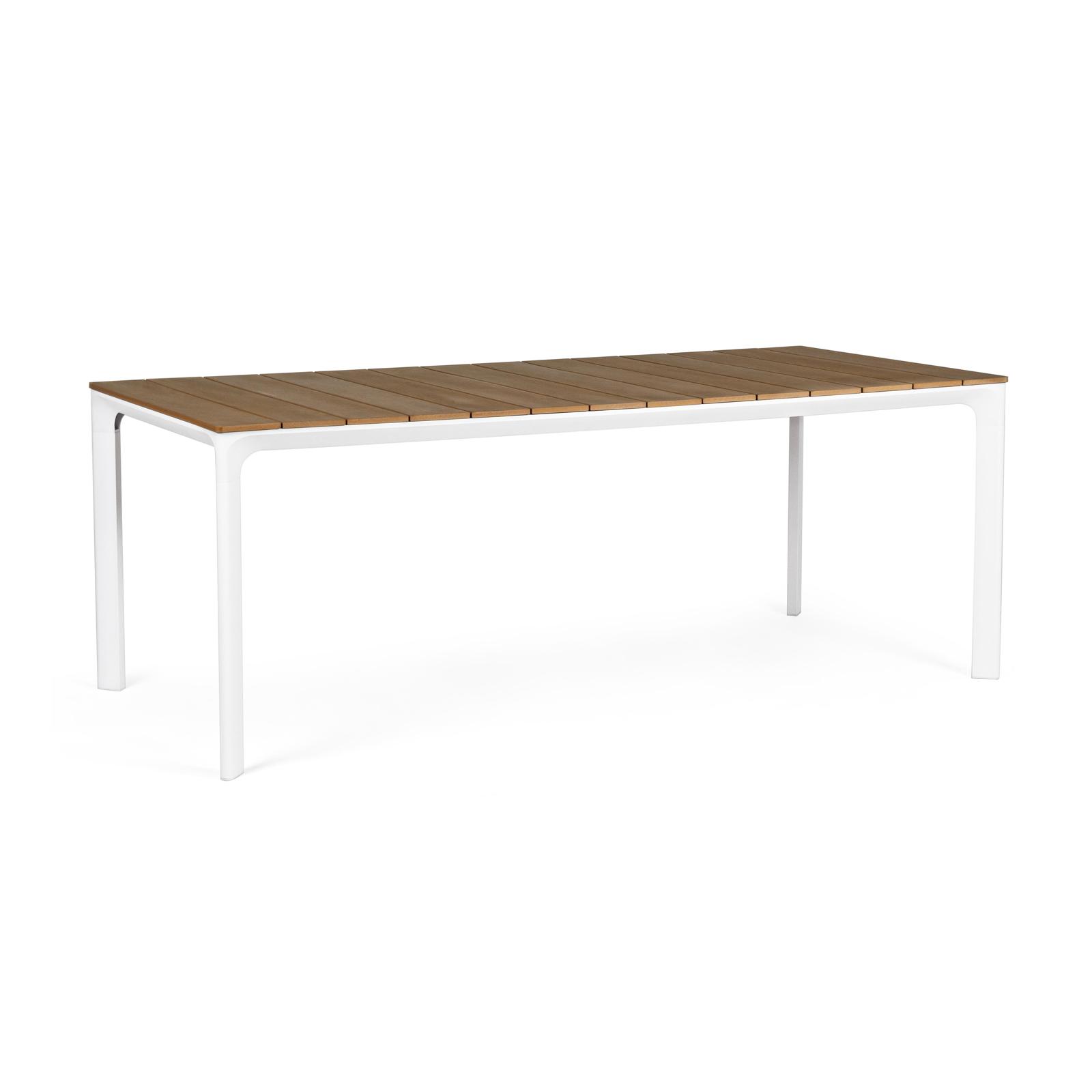Tavolo da esterni in alluminio con piano in polywood 200 x ...
