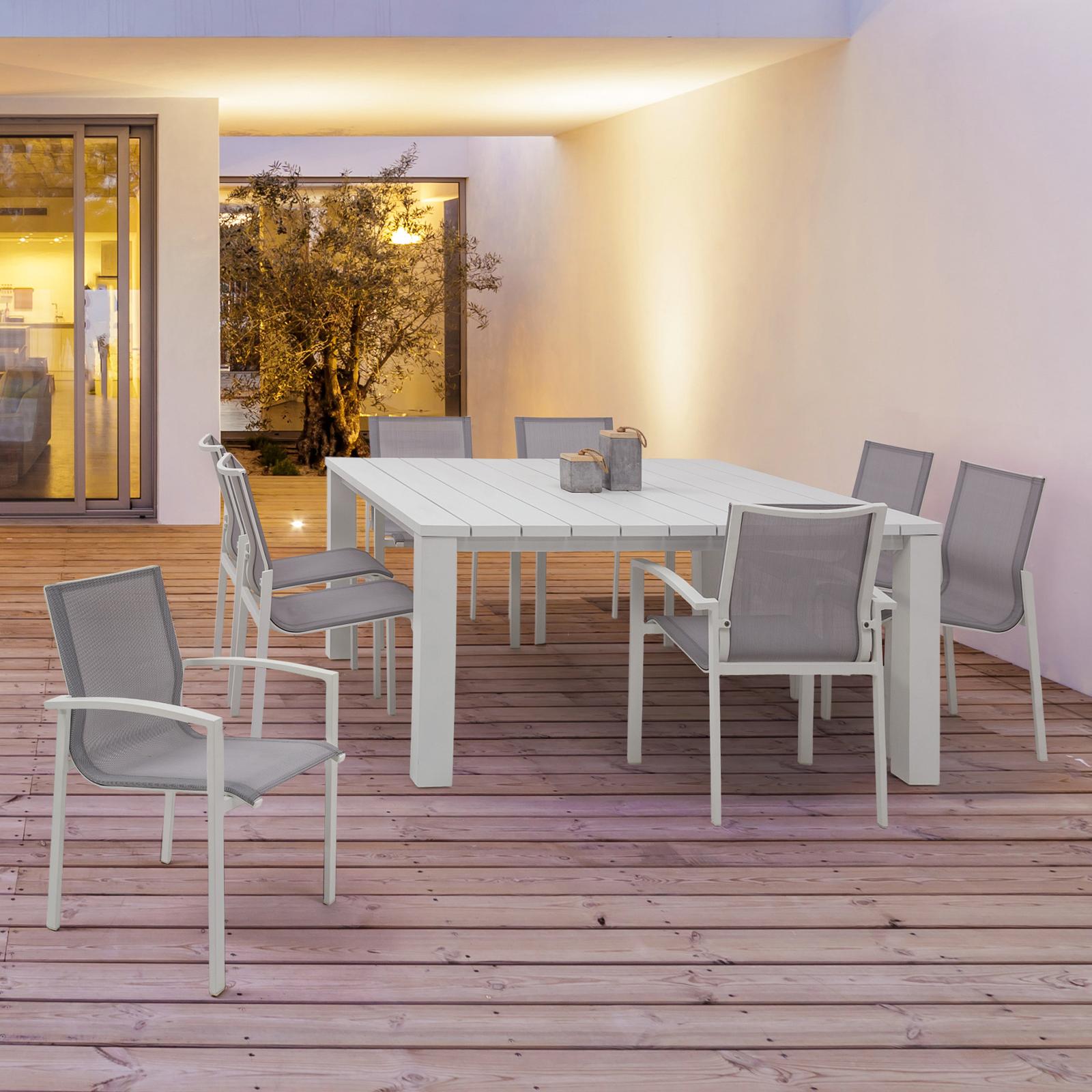 Tavolo da esterno in alluminio finitura bianco 160 x 160 x ...