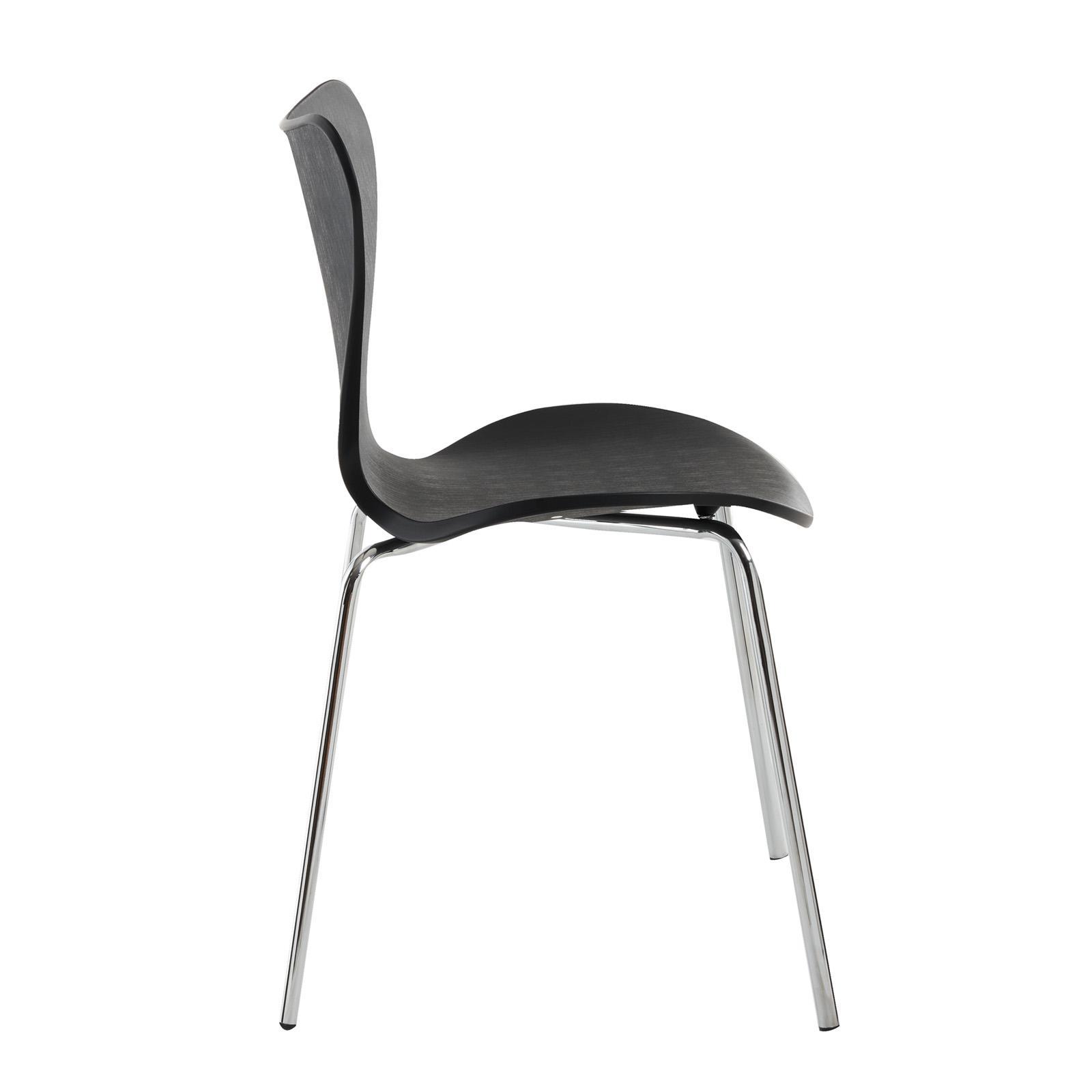Set di 4 sedie nere da interni per zona pranzo o per ...