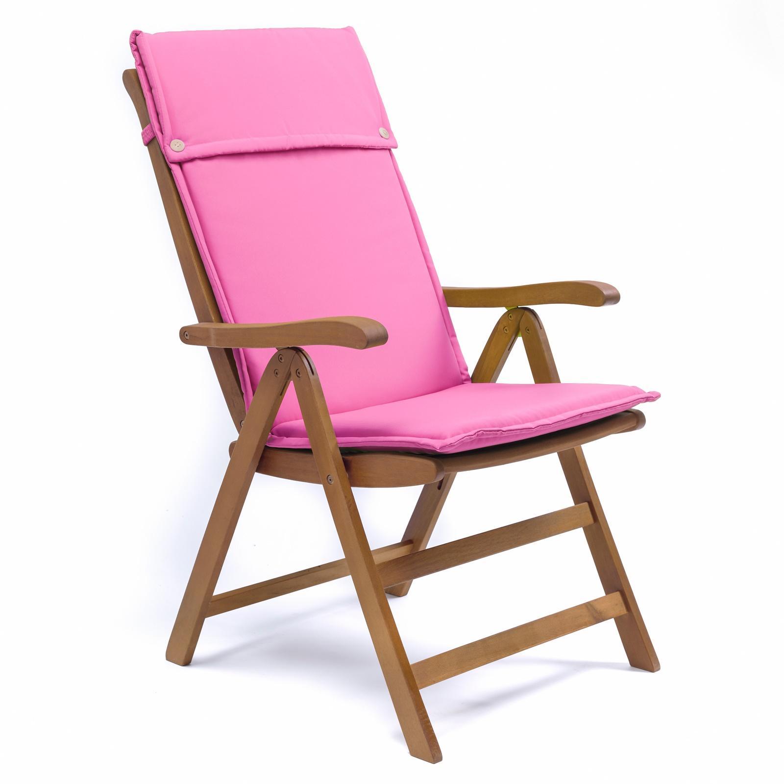 Cuscino da giardino con schienale alto fuxia per sedia