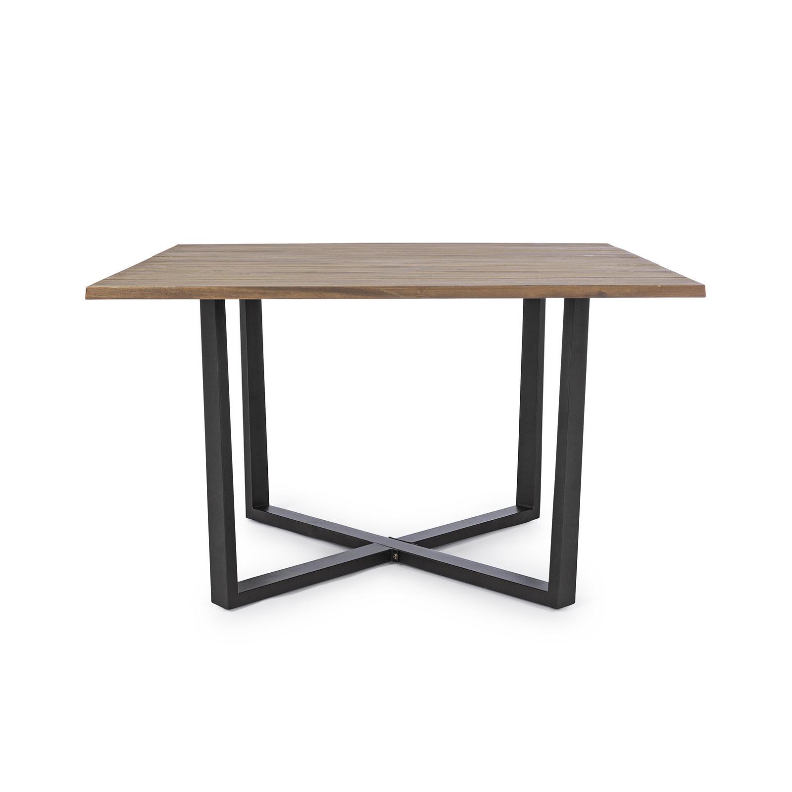 Tavolo quadrato per esterni in acciaio antracite e top in ...