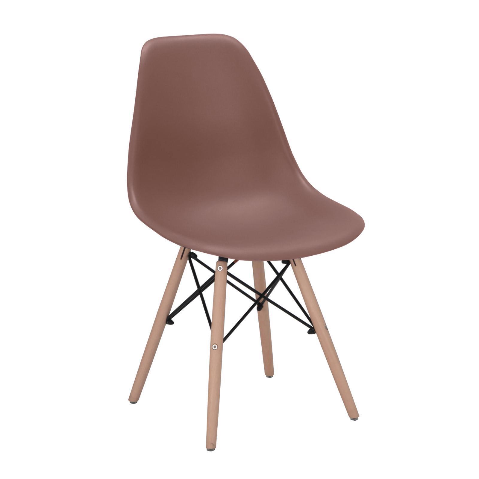 Set 4 sedie stile scandinavo colore marrone taupe con ...