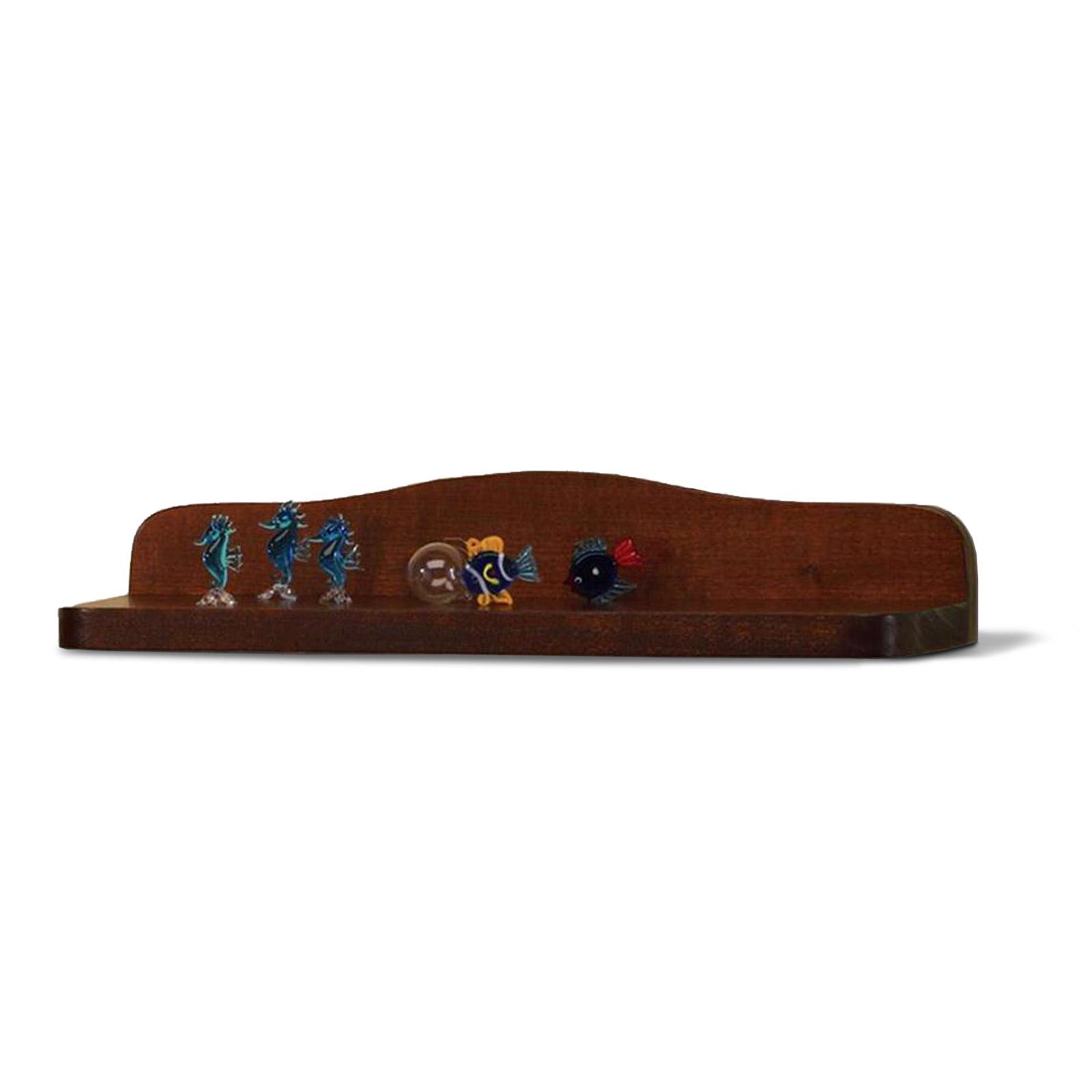 Mensola bagno in arte povera porta oggetti 40 cm in legno ...